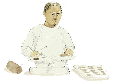 illustration of baker