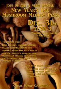 wild mushroom pizza flyer